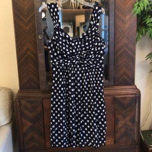 Black and white polkadot dress